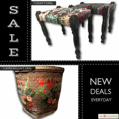 Today Only! 40% OFF this item. Follow us on Pinterest to be the first to see our exciting Daily Deals. Today's Product: Sale -  A Pair Vintage Textile Weave Multicolor Stools Repurposed Fabric Benches OOAK Buy now: https://orangetwig.com/shops/AABdT38/campaigns/AACmnzZ?cb=2016006&sn=Heathertique&ch=pin&crid=AACmnn2&exid=257241298&utm_source=Pinterest&utm_medium=Orangetwig_Marketing&utm_campaign=05-02-16   #vintagefurnitureonline #homedecor