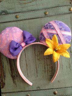 Designer RAPUNZLE TANGLED Mickey Ears By AUNTIE Tay by TaysGizmos Disney Ears Headband, Disney Headbands, Disney Mickey Ears, Mickey Mouse, Disney Day, Disney Nerd, Cute Disney, Disney Trips, Disneyland Ears