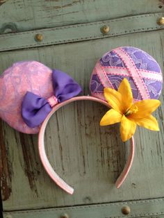 Designer RAPUNZLE TANGLED Mickey Ears By AUNTIE Tay by TaysGizmos