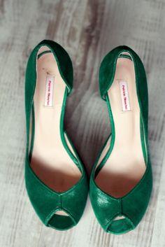 Escarpins à bouts ouverts PATRICIA BLANCHET Vert