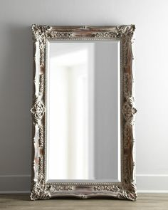 """Antique French"" Floor Mirror at Neiman Marcus.$595 tall wall mirror"