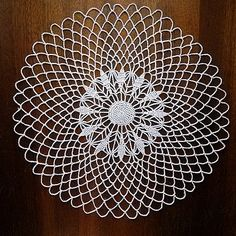 White crochet doily Round doily white Napkin knitted by MyWealth
