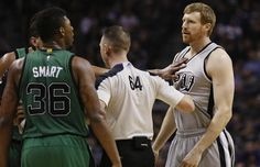 Marcus Smart punched Matt Bonner in the groin and got ejected for it.