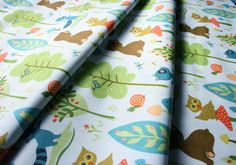 Riley Blake Woodland tails Bear Blue C2773