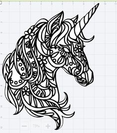 Mandala Unicorn Design SVG EPS DXF Studio 3 Cut File