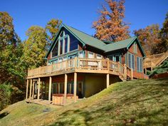Surrounded by breathtaking views overlooking Deep Creek Lake this mountain lodge is an ideal four season retreat. High ceilings with wooden beams and natural light from the windows give the entry level a welcoming ...