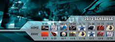 #Eagles 2012 Season Schedule.
