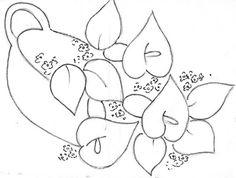 Pintura em Tecido, Riscos, Dicas, Materiais e Passo a Passo: Risco desenhos flores copo de leite e mais