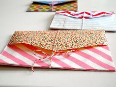 One Bunting Away: Accordion Envelope Using Paper Bags