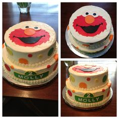 Elmo cake by Eggleston's Edibles