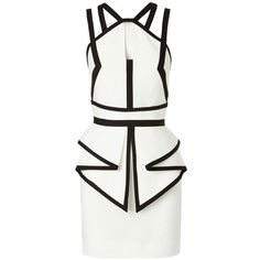 Sass & Bide The Grand Scene Fitted Dress With Peplum Detail found on Polyvore
