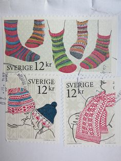 rhythmwaves:  Stamps by subwayknitter on Flickr.