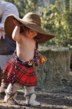 I've got me rope so I'll be back for ye in a few years when I'm old enough tae handfast ye lassie. Precious Children, Beautiful Children, Beautiful Babies, Little People, Little Ones, Cute Kids, Cute Babies, Scottish Tartans, Scottish Kilts