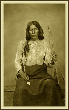 Comanche man. Photo taken at Fort Sill ca. 1870-1975. - Part of Lawrence T. Jones III Texas photography collection.