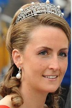 Princess Claire in a new Pearl and Diamond Tiara.
