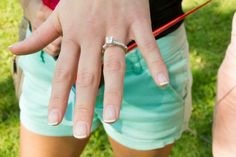 We love Chelsea's new engagement ring! We helped her fiancé Taylor custom design it, but you can click to see a similar style!