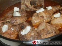 Greek Recipes, Pot Roast, Sausage, Pork, Food And Drink, Cooking Recipes, Chicken, Meat, Ethnic Recipes