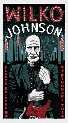 Wilko Johnson poster by Chris Hopewell http://jungleindierock.tumblr.com/post/45326512755/wilko-johnson