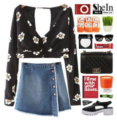 """""""SheIn 4"""" by novalikarida ❤ liked on Polyvore featuring Chanel, Pier 1 Imports, River Island, Pantone, Aesop, Yves Saint Laurent, MAKE UP FOR EVER, Forever 21, Sheinside and shein"""
