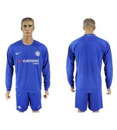Billiga Chelsea Hemmatröja 17-18 Långärmad Tottenham Hotspur, Football, Stamford, Chelsea Fc, Manchester United, Premier League, Barcelona, Arm, Long Sleeve