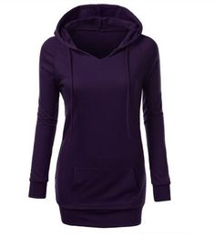 2017 women's fashion solid color hooded sweater female