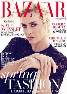Kate Winslet in Dolce&Gabbana for Harper's Bazaar UK March