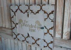 Wooden Wall Frame/quatrefoil design/4x6 by thewoodedlane on Etsy, $18.00