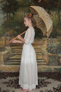 Antique Girls Dress . Edwardian Era . VeraVague.etsy.com