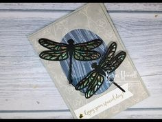 Stampin' Up! Double Dragonflies card - YouTube