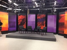 Communications Complex constructs new talk show set | Bryant Archway
