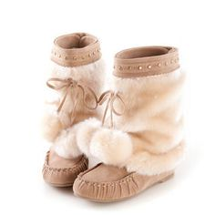 D+AF  Detachable-Faux-Fur Mid-Calf Boots