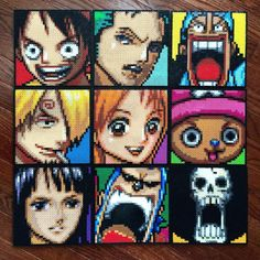 One Piece Cast perler beads by whatsupeveryone34