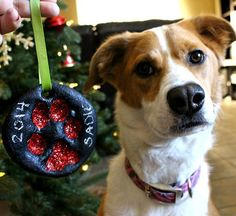 This Paw Print Ornament will look fantastic decorating your Tree and will be something to  treasure. Check out the Pet Memorial Ornament and Pet Art too!