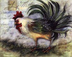 Le Rooster IV Art Print by Susan Winget @ Urbanloftart.com
