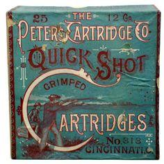 "Vintage Style Advertising Pinback Button  1/""  Shoot Peters Shells Shotgun Ammo"