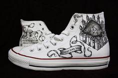 CONVERSE Chaussures de Harry Potter de carte du par EmbeditArts