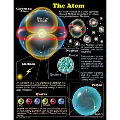 Universe Astronomy CHARTLET THE ATOM 17 X 22 - Chartlets are an excellent reference resource for students! The Atom chart measures x and includes a resource guide on the back. Display in a science center for students to easily reference. Physical Science, Science Education, Science And Technology, Computer Science, Teaching Science, Free Education, Higher Education, Physics And Mathematics, Quantum Physics