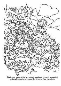 Lady Lovely Locks Coloring Page