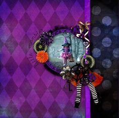 "Ma page avec le kit en free ""Gothic October"" de Kitty Scrap  photo rak pour Rock'n Raul photographie  Wa ""Halloween"" Sweet Chick Free sur mon blog"