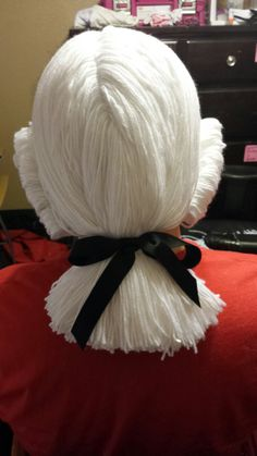 Yarn Wigs... I make them in several styles, this one is George Washington :D Heather's Homemade Habiliments on Facebook