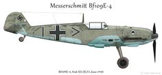 Messerschmitt Bf 109E-4 Stab III./JG53 @ Anders Hjortsberg