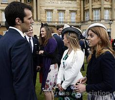 Princess Beatrice meets Team GB basketball players during a Garden Party at Buckingham Palace, 30 May 2013