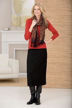 Wool Column Skirt | Chadwicks of Boston