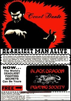 Count Dante, Kung Fu Master