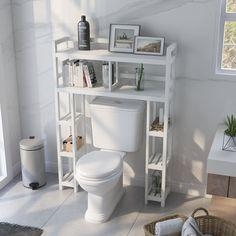 Bernardston W x H x D Solid Wood Over-the-Toilet Storage Bathroom Shelves, Bathroom Storage, Bathroom Ideas, Over The Toilet Cabinet, Bath Cabinets, Toilet Storage, Storage Organization, Organizing, Diy Home Crafts