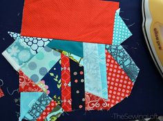 Tutorial: Make a fun patchwork fabric from your tiniest scraps