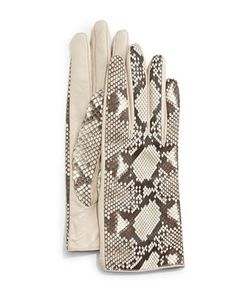 Python/Napa Leather Gloves, Roccia by Guanti at Neiman Marcus.