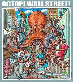 Octopi Wall Street (Ray Troll)