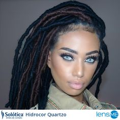 Get this dramatic look with Solotica Hidrocor Quartzo. Double click the photo and learn more. Flawless Makeup, Love Makeup, Makeup Looks, Hair Makeup, Makeup Eyes, Eye Lens Colour, Color Lenses, Eye Color Chart, Attractive Eyes