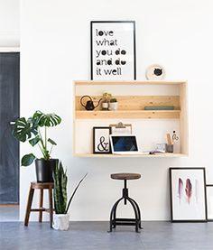 De fijnste werkplek creëer je thuis met deze zwevende constructie van KARWEI.
